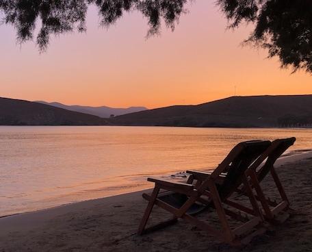 Astypalea beach sunset