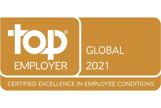 Top Employer global 2021 badge
