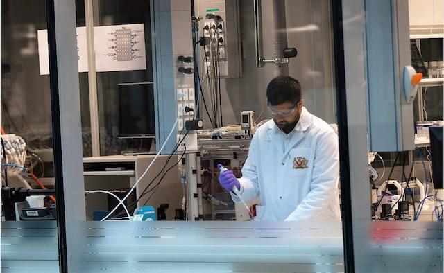 scientist in lab banner