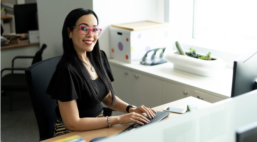 woman on desk story image