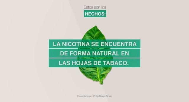 Estos son los hechos nicotina