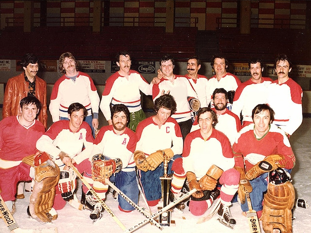 Benson and Hedges Hockey Team in Quebec Canada