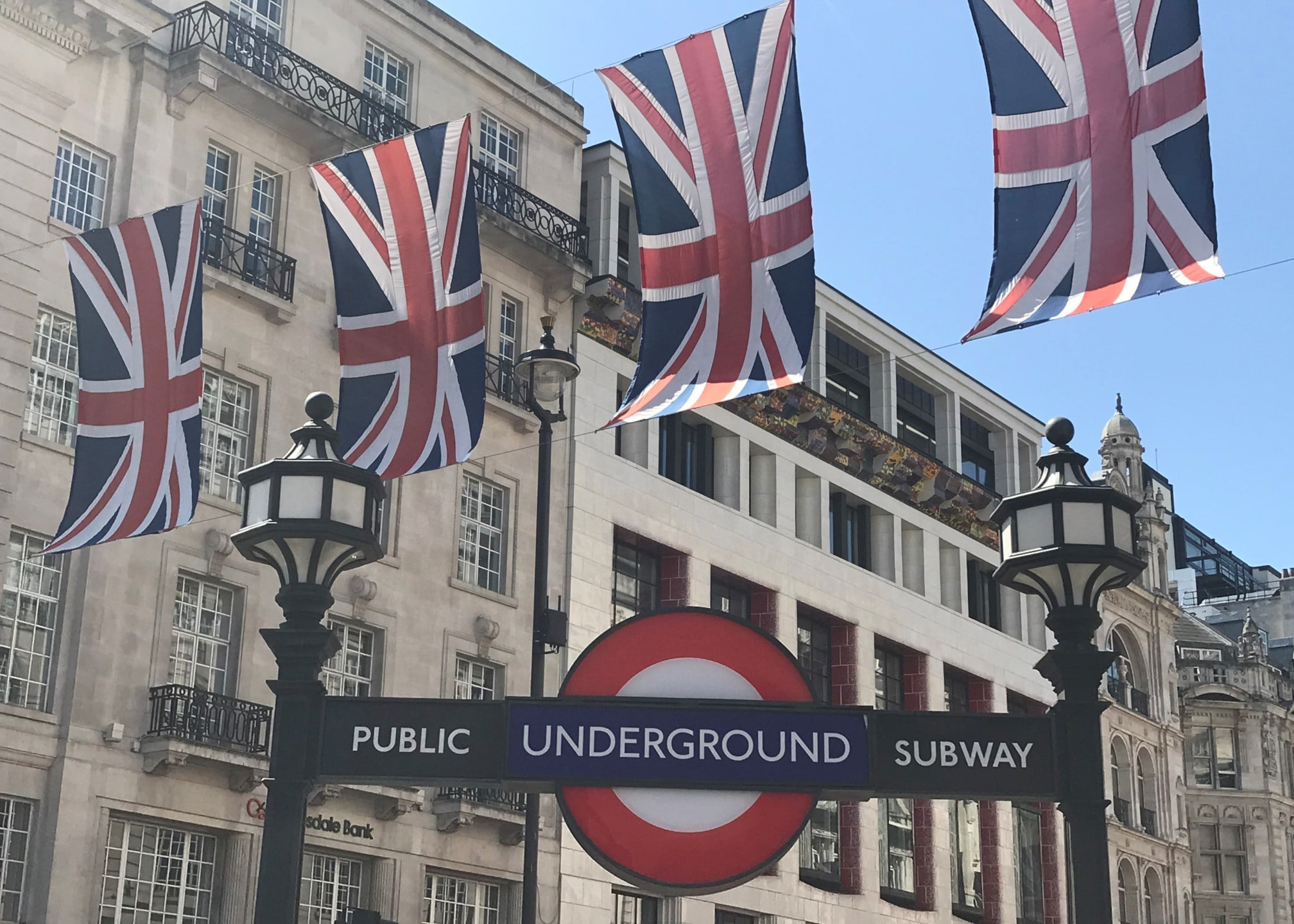 London flags and underground
