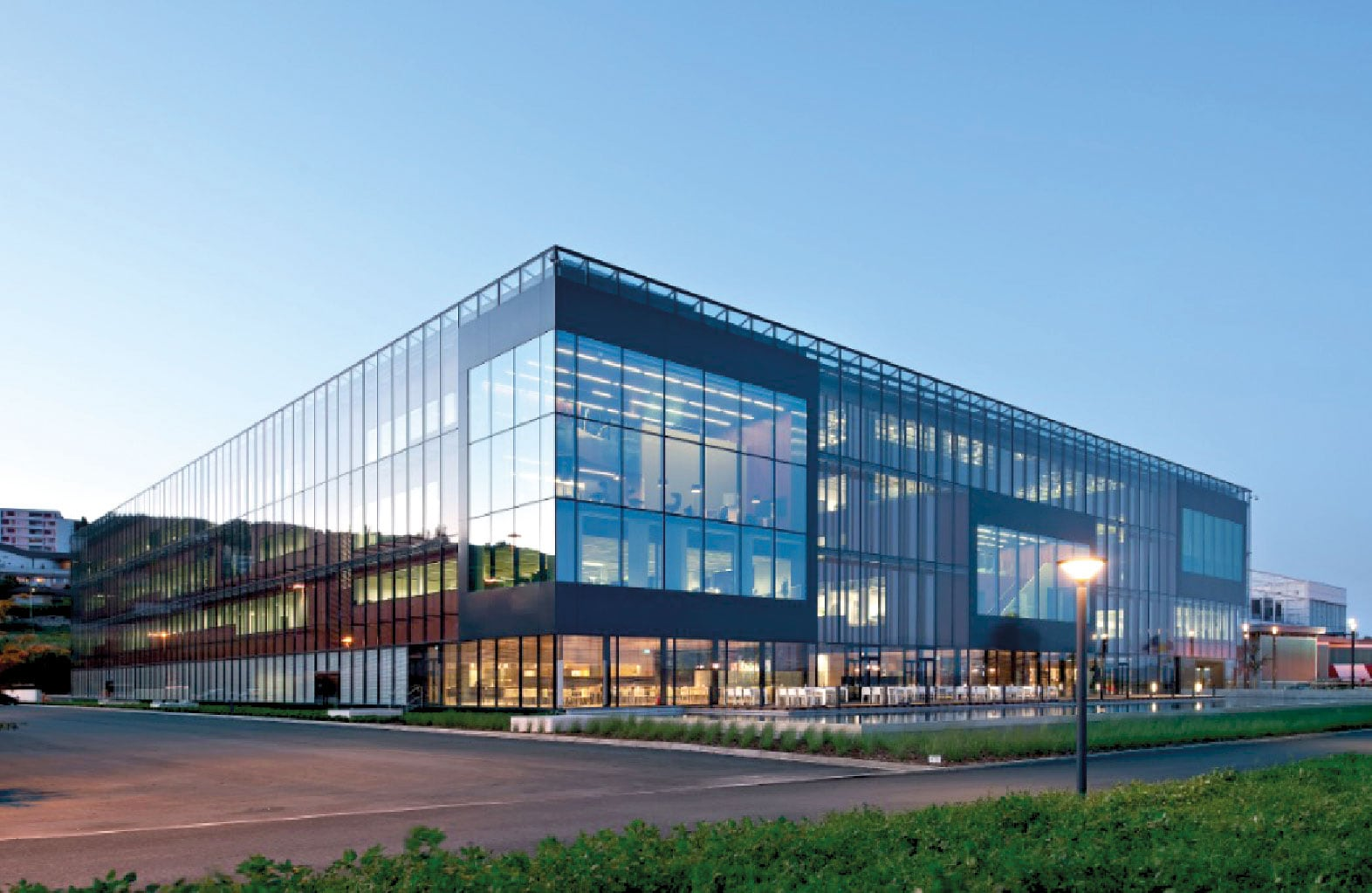 exterior of PMI's R&D facility, the Cube