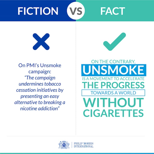 WHO Report Tobacco Fact versus Fiction infographic 1