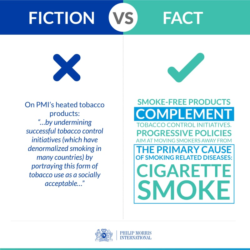 WHO Report Tobacco Fact versus Fiction infographic 2