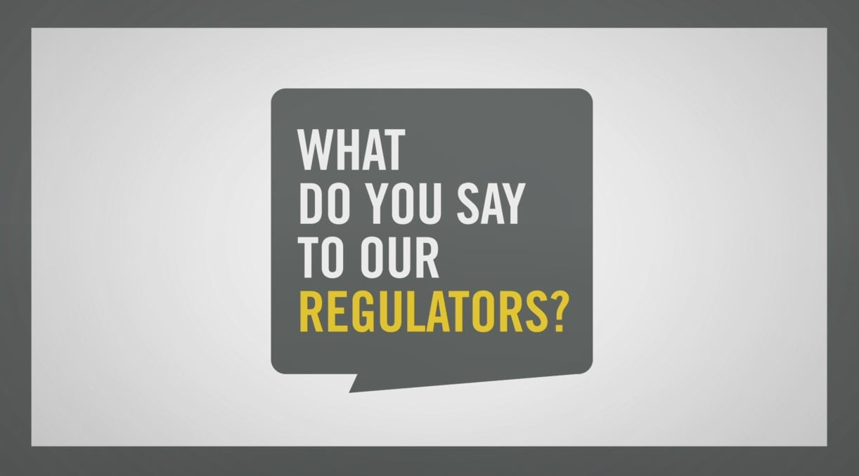 UYM what do you say to regulators video thumbnail