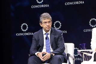 André Calantzopoulos on stage at Concordia Annual Summit 2019