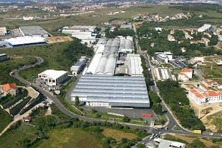vista aérea da fábrica da Tabaqueira