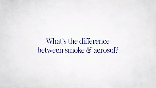 Difference between smoke and aerosol