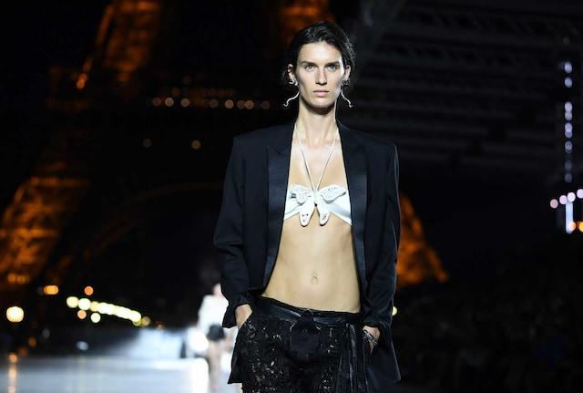 Fashion Week YSL smoking jacket