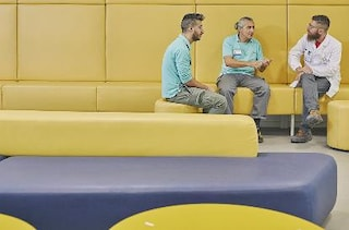 Men sitting Bologna section highlight 2b
