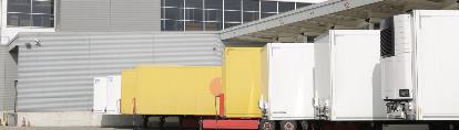 Trucks outside Neuchatel banner
