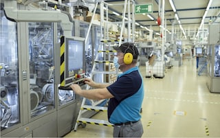 Russia factory worker