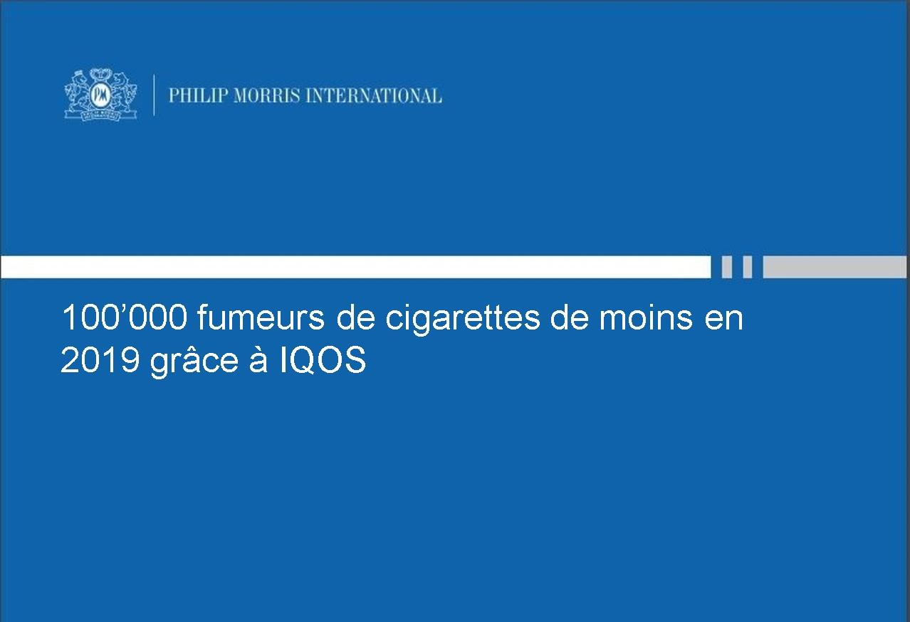 moins de fumeur en 2019 grace a IQOS