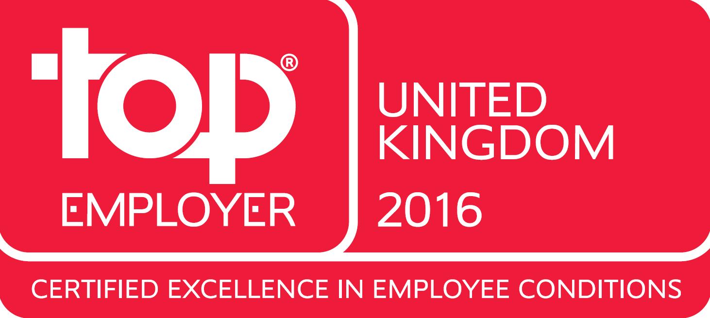 Top Employer United Kingdom 2016