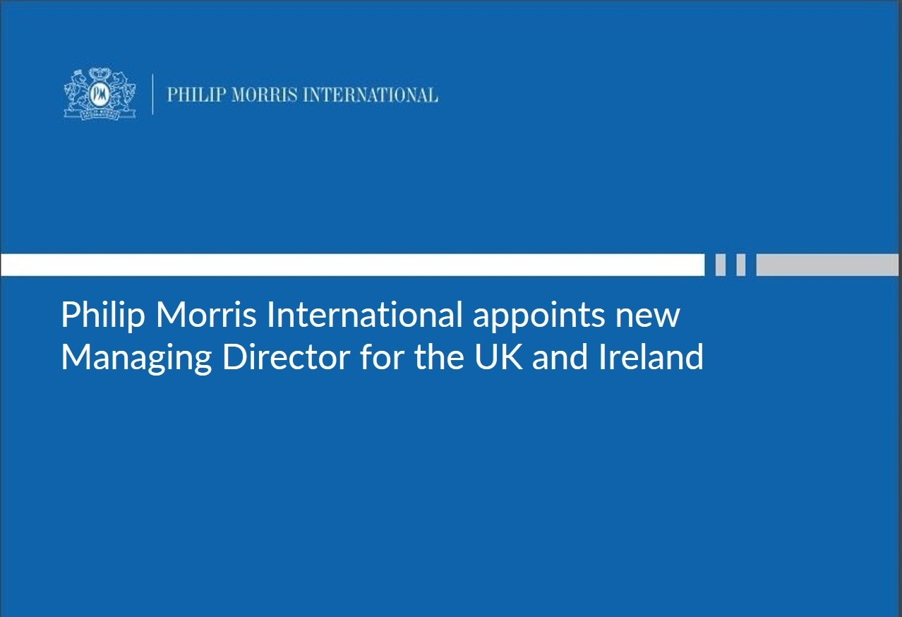 Phillip Morris International appoints new Managing Director for the UK and Ireland