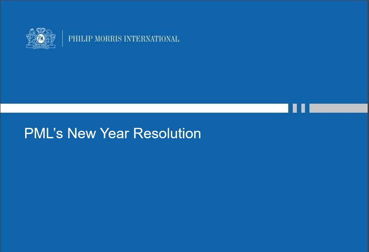 PML's New Year Resolution
