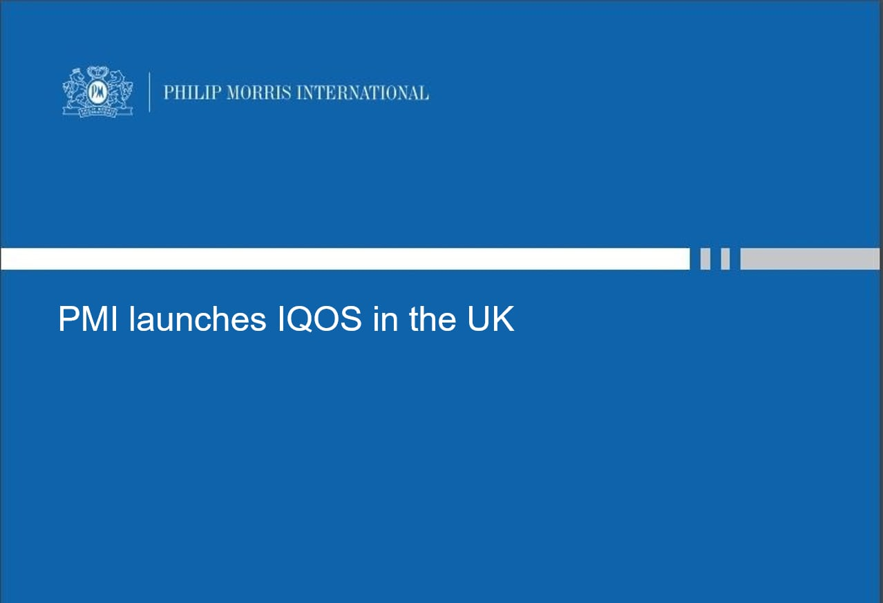 UK IQOS launch