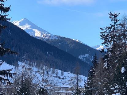 Davos village mountains WEF