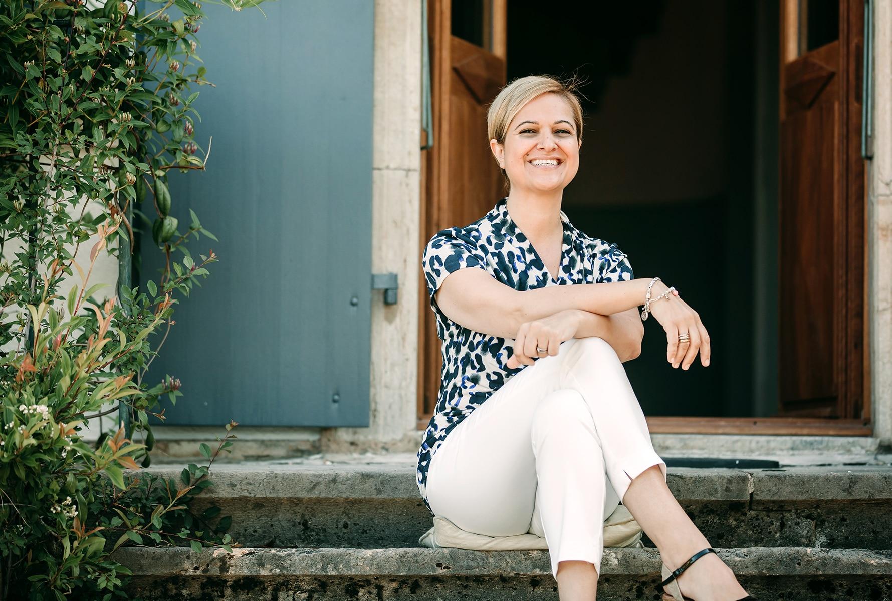 Maryann Johnson Hill sitting step article highlight